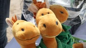 La mascotte des Jeux Equestres Mondiaux: Norman