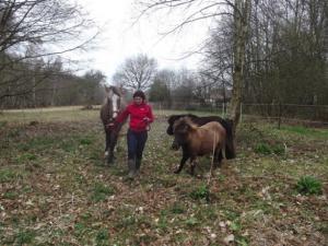 Sophie avec ses animaux