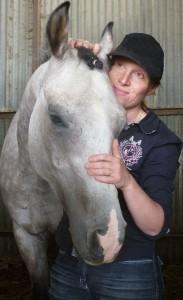 Claire et son cheval Badr