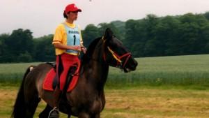 cheval en bagarre avec son cavalier
