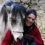 portrait poney et enseignante