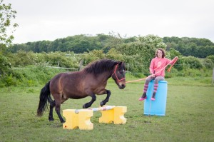 saut à la longe avec le poney