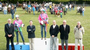 podium des championnats de France d'endurance en attelage 2010