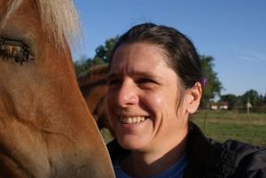cheval et auteur de l'article